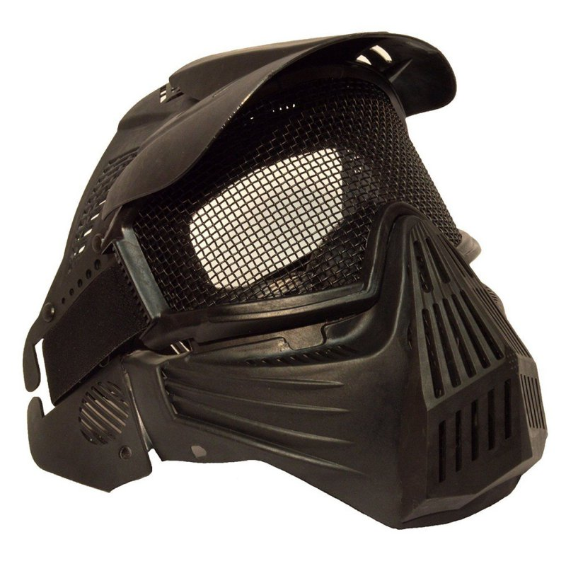 New AIRSOFT & PAINTBALL SPORTS CS Pro Full Face Mask with Safety Metal Mesh Goggles Protection W1