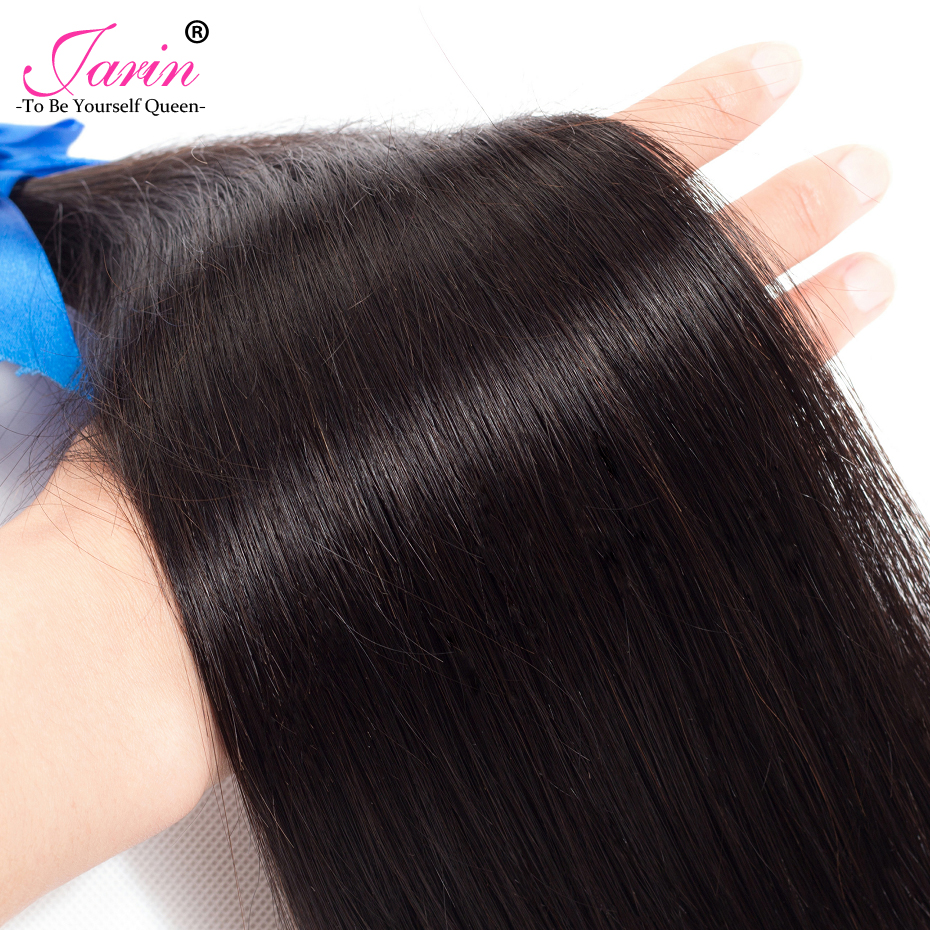 Image 5 - Brazilian Straight Hair Bundles With Closure 5x5 Human Hair 3 Bundles With Lace Closure Free Middle Three Part Remy Jarin Hair-in 3/4 Bundles with Closure from Hair Extensions & Wigs