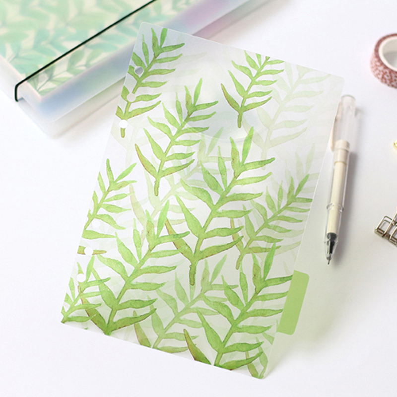 6 Holes A5 A6 A7 Colored Notebook's Index Page Matte Spiral Book Category Pages Office Planner Stationery Accessories
