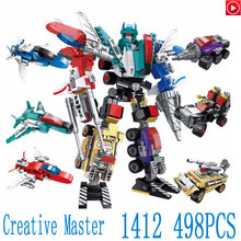 Legoed Movie LepinS New Style 6 in 1Legoings War Transformation Robot Vehicle Plane car DIY Building Blocks Brick Toy Kids Gift(China)