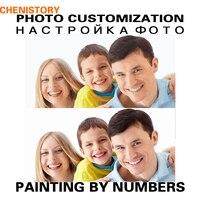 Chenistory diy 그림 by 번호 성격 사진 사용자 정의 자신의 세로 웨딩
