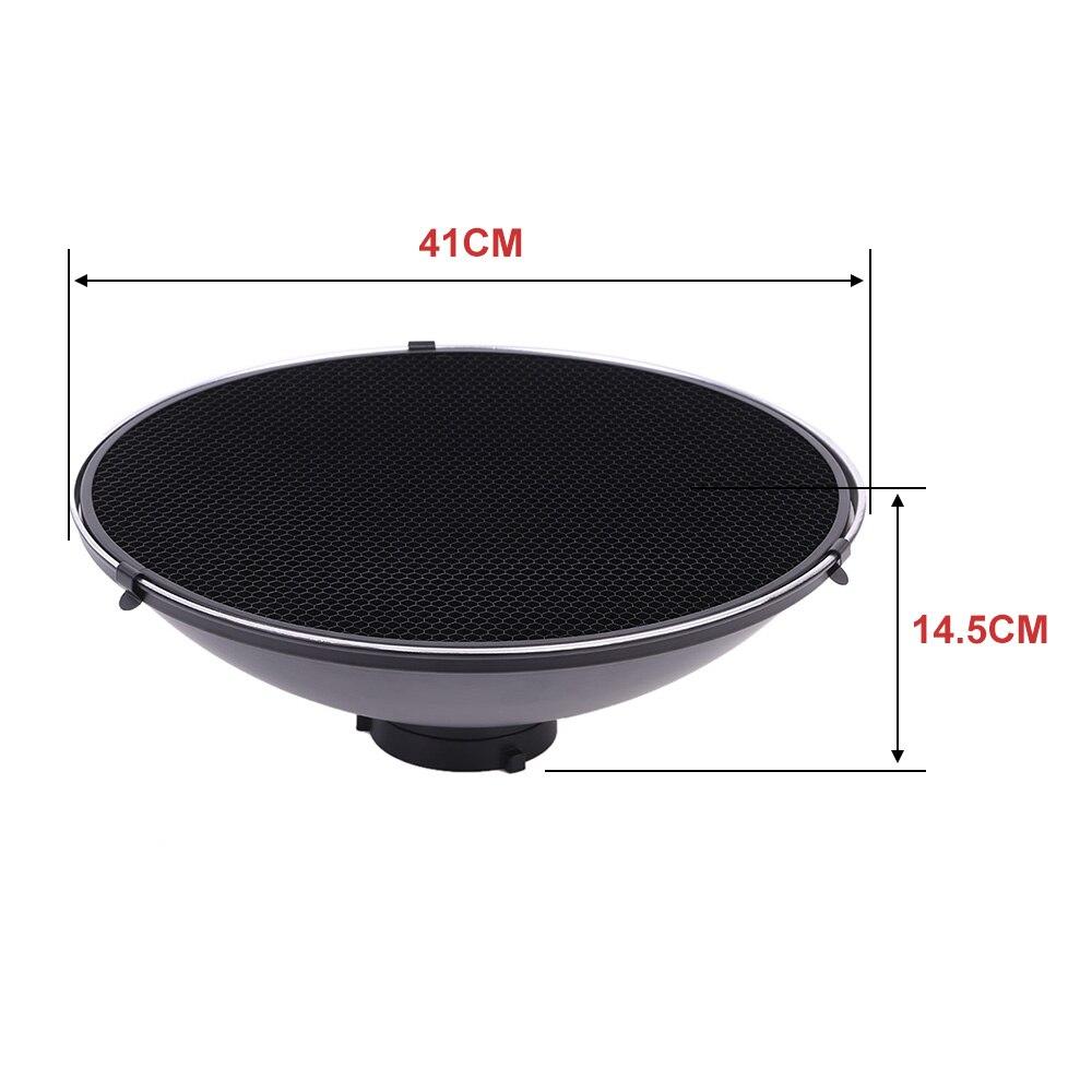 41cm Beauty Dish Reflector Strobe Lighting for Bowens Mount Speedlite Photogrophy Light Studio Accessory Aluminum Alloy