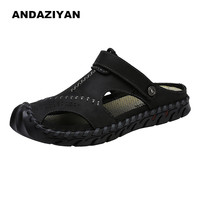 Summer large size leather outdoor sandals men shoes