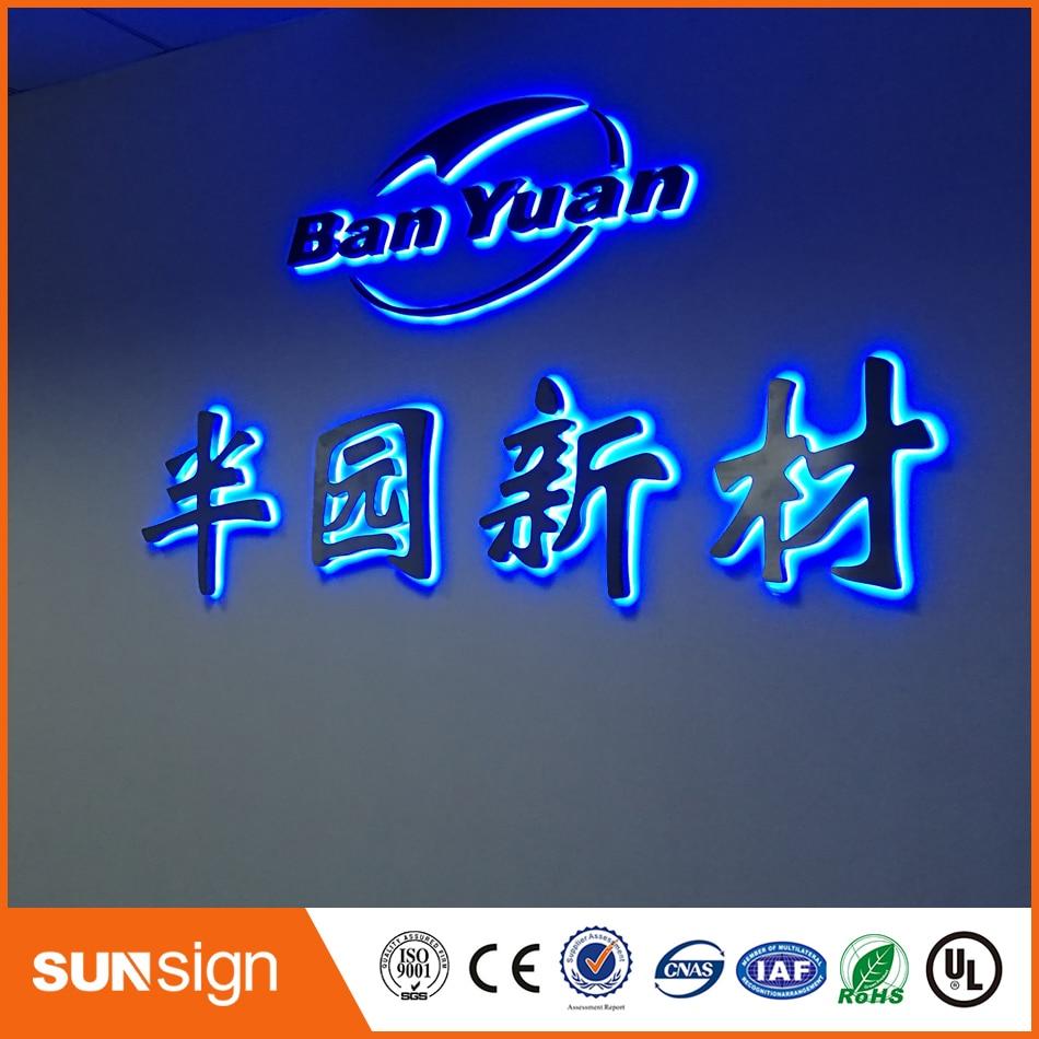 China Manufacturer OEM Custom Backlit LED Metal Channel Letters Sign, Backlit Stainless Steel Channel Letters