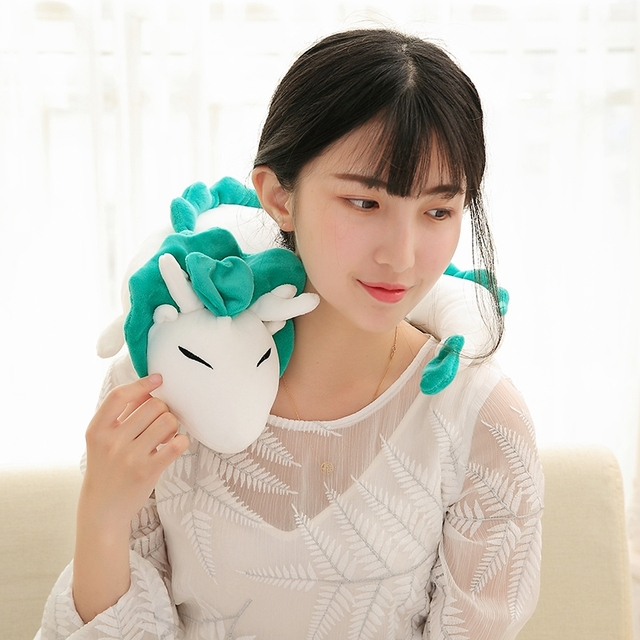 Frete grátis Ghibli Miyazaki Hayao a viagem de Chihiro Haku 28 cm Bonito Boneca de Pelúcia Brinquedo de Pelúcia Travesseiro Brinquedo de Pelúcia para o natal presente
