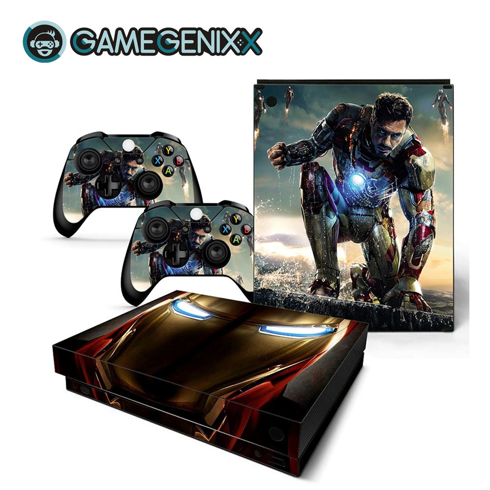 GAMEGENIXX Skin Sticker Removable Cover PVC Vinyl for Xbox One X Console and 2 Controllers - The Avengers(China)