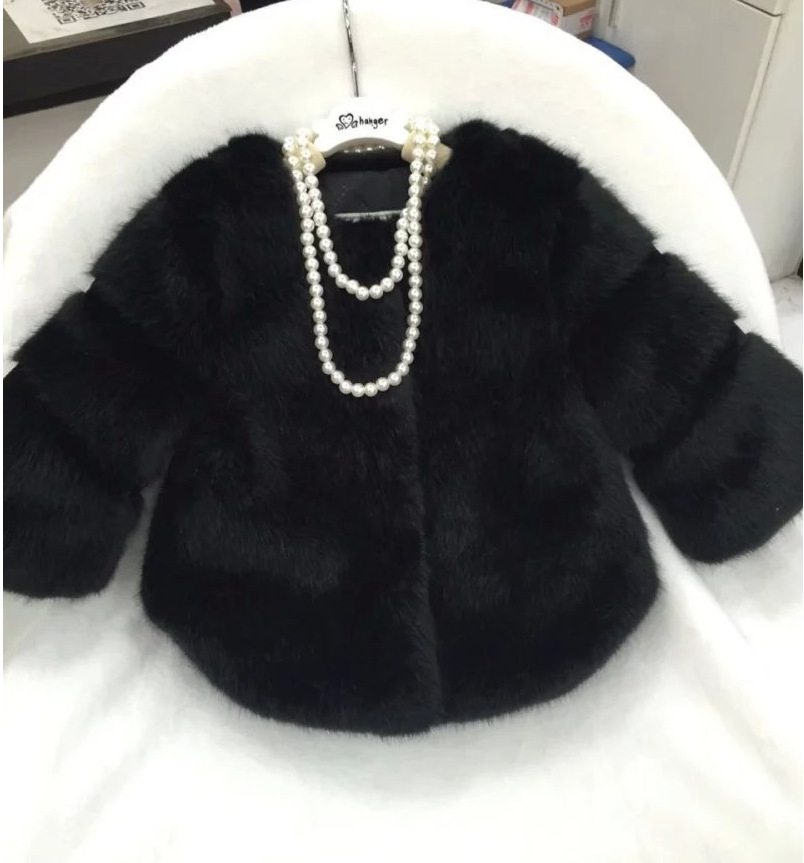 4d367239c fashion kids girls faux fur coat,trendy design autumn winter children fur  outerwear jacket,warm child thickening clothing-in Jackets & Coats from  Mother ...