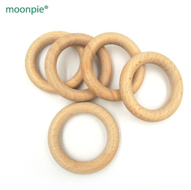 10pcs x 60mm DIY Organic beech Ring round Wooden rings teether nursing toy super smooth DIY fitting baby teething toy EA24