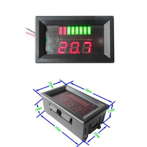 Dc 6v/12v/24v/36v/48v/60v/72v Lead-acid Battery Capacity Tester Led Indicator Active Components Electronic Components & Supplies