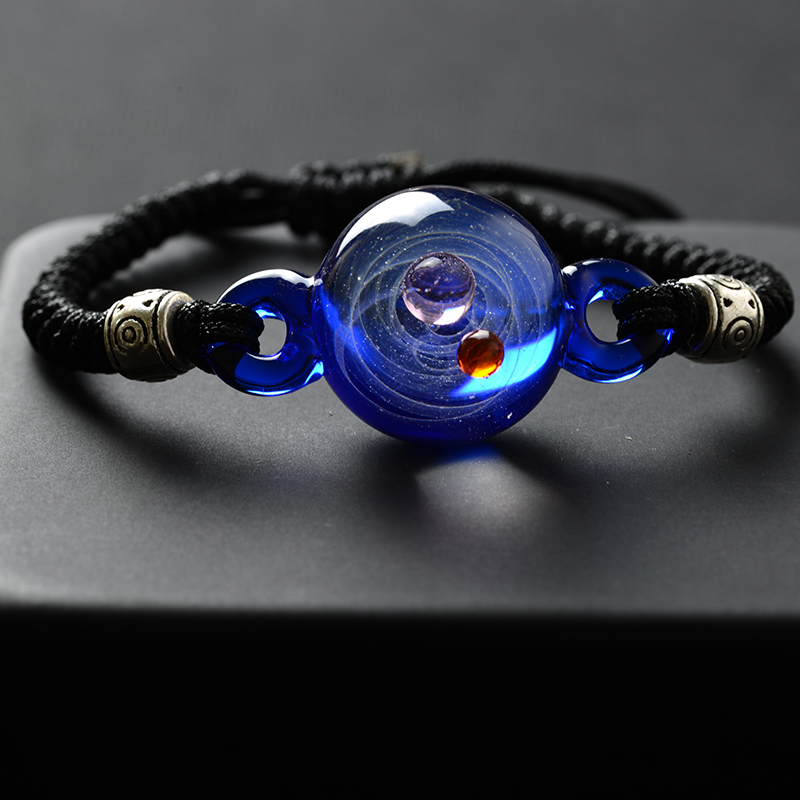 Adjustable Women Universe Galaxy Bracelet for Girls Planet Sun Moon Earth Bracelets & Bangles Friendship Femme