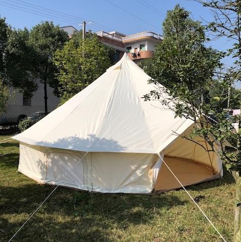 Бесплатная доставка glamping праздник 4 м Dia Оксфорд холст Водонепроницаемый палатка, колокольчик палатка