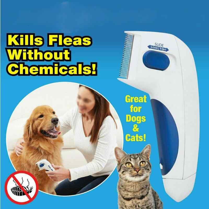 Mascota de los piojos limpiador peine perro electrónico de cepillo de limpieza cepillo de mascotas de controlador asesino removedor de productos para mascotas Dropshipping. Exclusivo.