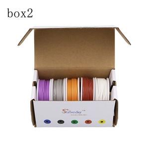 Image 3 - 30 m 22awg 유연한 실리콘 와이어 케이블 5 색 믹스 박스 1 상자 2 패키지 전기 와이어 라인 구리 diy