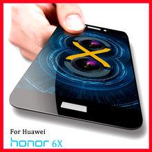 For Huawei Honor 6X Tempered Glass Film 2.5D Curved Full Cover Screen Protector Carbon Fiber Soft Edge For Huawei Honor 6X 6 X