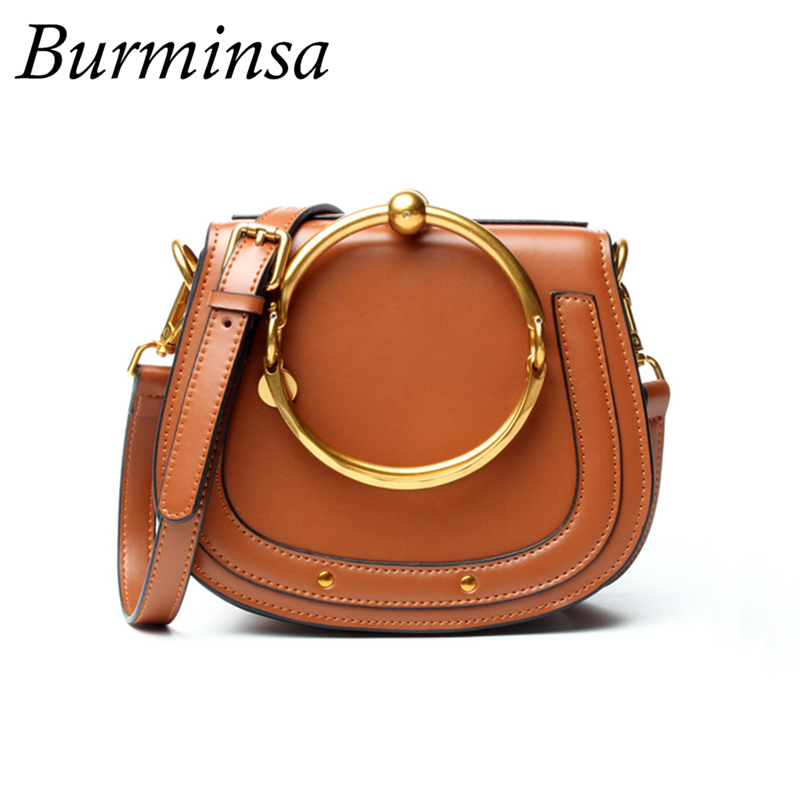Burminsa Ladies Mini Genuine Leather Bags Cute Crossbody Bags Girl Designer Handbags High Quality Luxury Shoulder Messenger Bags navy cute high waisted leather mini skirt