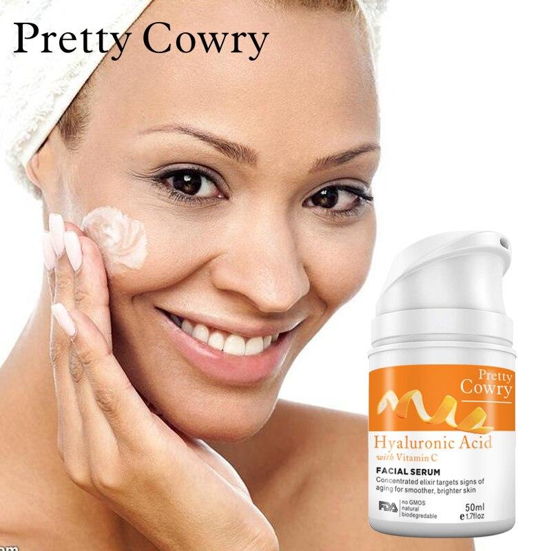 все цены на PERTTY COWRY vitamin c orange 100%pure anti-aging plant extract Hyaluronic acid liquid whitening blemish serum facial cream