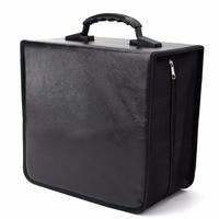 520 Discs CD DVD Wallet Storage Holder Bag Case Album Organizer Media Products Black PU Leather Storage Box Container