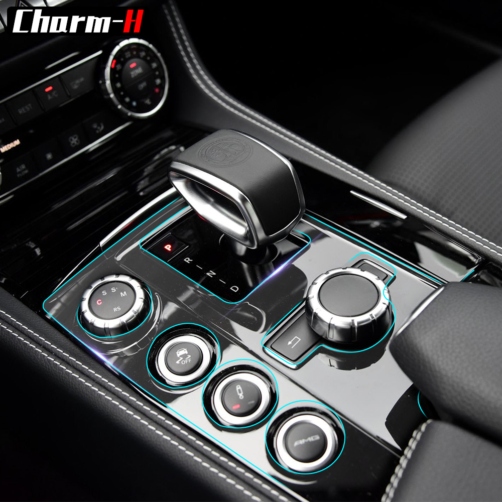 Car Styling Center Control Console Dashboard Gear Shift Panel Protective Film Sticker For Mercedes Benz AMG CLS 63 Accessories