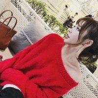 Sweaters Mohair Sweater Dresses Long Coat Jumper Women Pullover 2018 Fall Harajuku Autumn Winter Tops Knitwear Tricot Sweaters