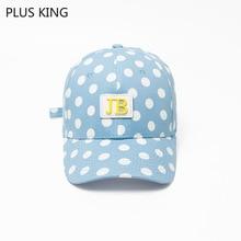 New Fashion Women Baseball Cap Ladies Hat Dot Girls Snapback Students Cotton Blue White Black недорого