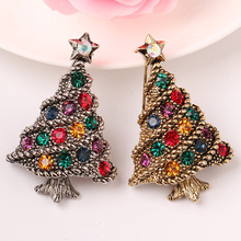 CINDY XIANG Colorful Rhinestone Christmas Tree Brooches for Women Vintage Pins Party Gift Jewelry Coat Sweater Accessories 2018