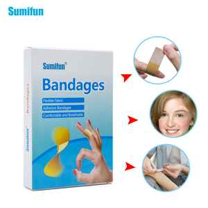 Image 2 - 100pcs/box Waterproof Breathable Bandage Adhesive Wound First aid Hemostasis Antibacterial Band aid Household Patches