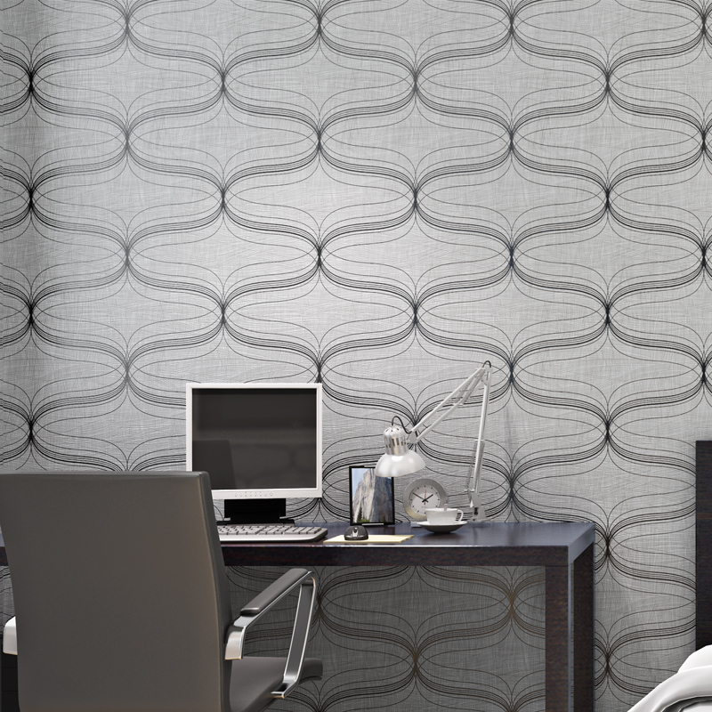 Papel De Parede Modern Curve Wallpapers Roll Abstract Geometric Wood Fiber For Walls 3 D Wallpaper Roll For Living Room B