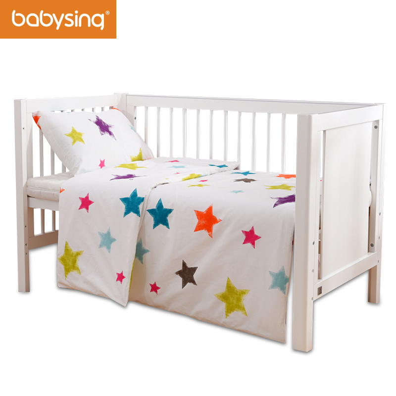 Baby Bedding Set 100 Cotton Little Star Kids Bed Duvet Cover Pillowcase Without Filling FC2K007