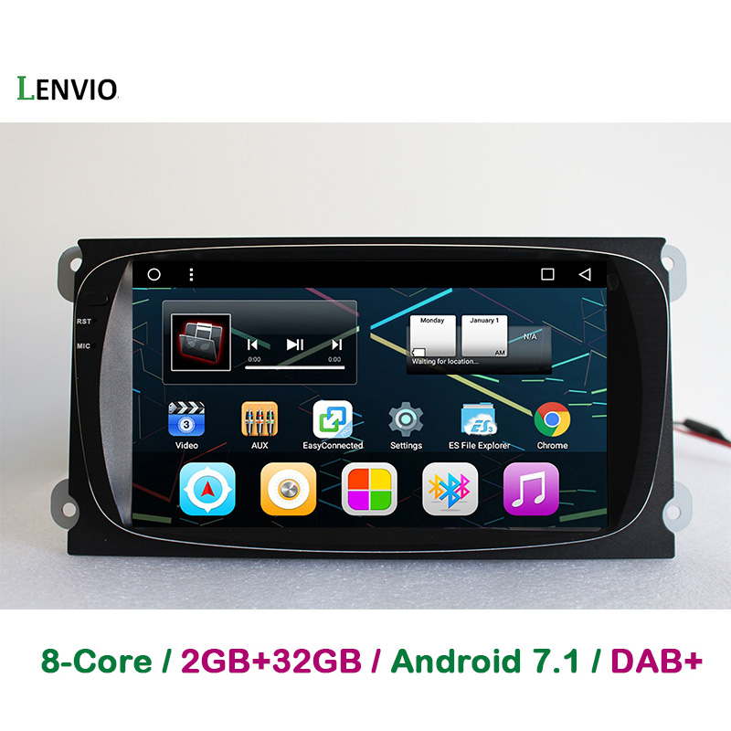 Lenvio 8IPS 2GB+32GB Android 7.1 CAR GPS DVD Player For Ford Mondeo 2007 2008 2011 S Max 2008 2012 Focus 2008 2009 2010 Galaxy
