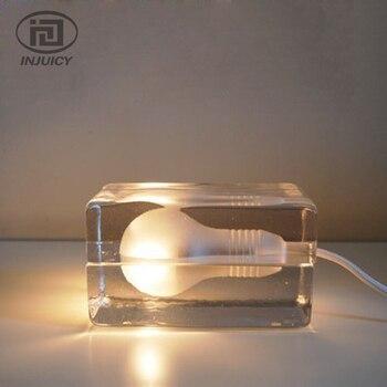 Постсовременная стеклянная Светодиодная настольная лампа со ледяным кристаллом, лампа для чтения, лампа для учебы, прикроватный столик, ос...