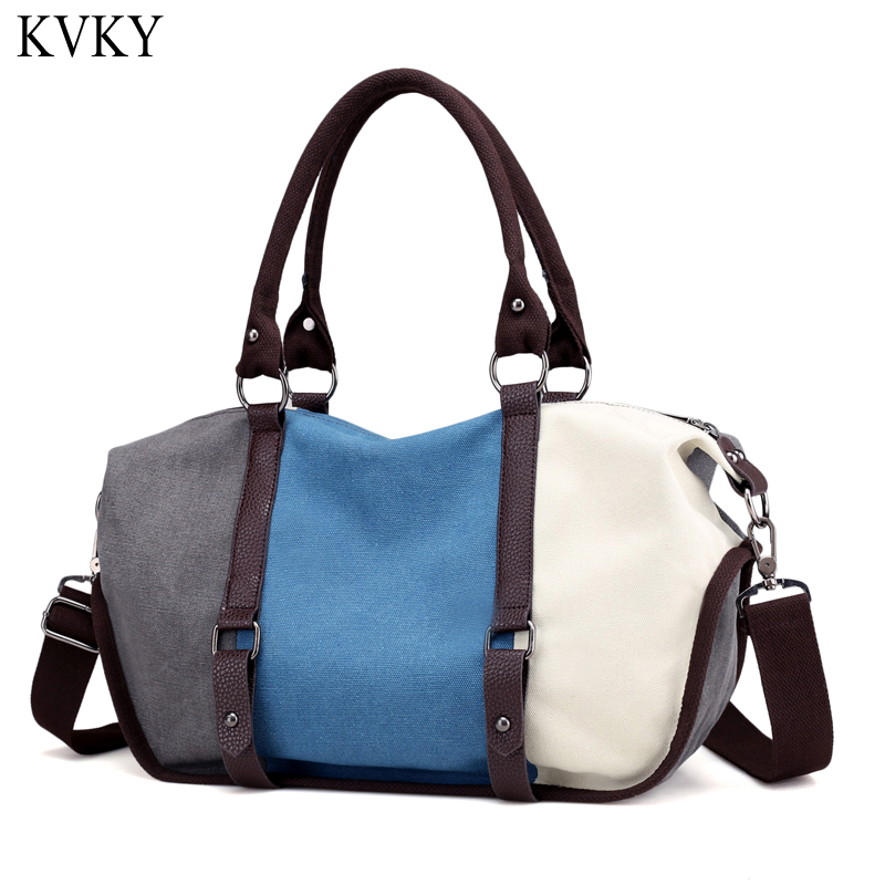 2018 New Canvas Bag Tote Women Handbags Shoulder Bags Fashion Casual Messenger bags High Capacity Lady Patchwork Style design new style fashion famous brand lady handbags with high quality casual women messenger bags high capacity shopping shoulder bag