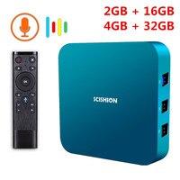 SCISHION AI ONE Android 8.1 Smart TV Box Rockchip 3328 2GB/4GB 16GB/32GB 2.4G WiFi USB3.0 BT4.0 Set Top Box With Voice Control