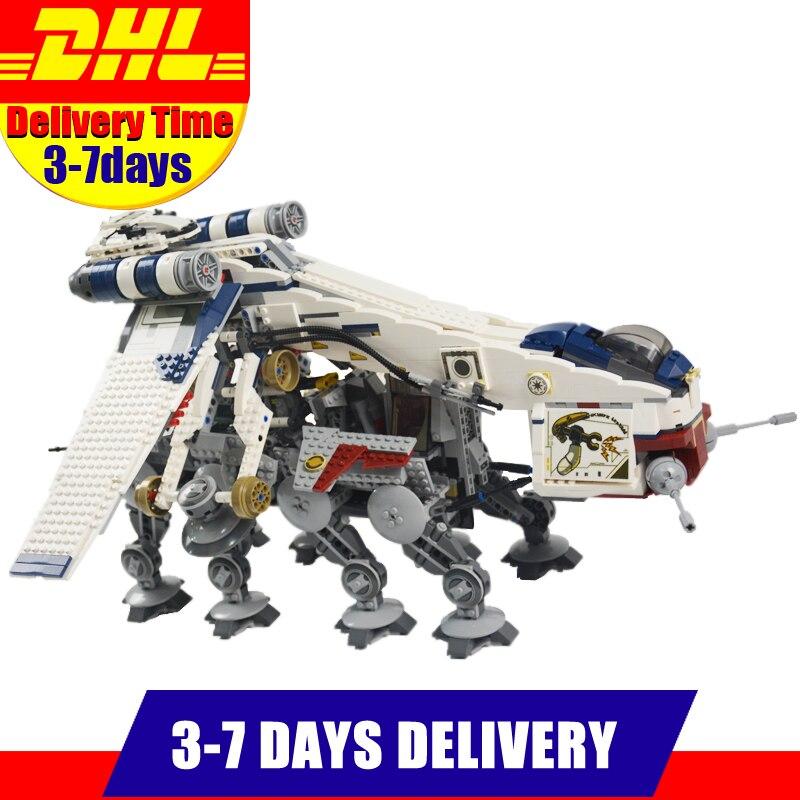 LEPIN 05053 1788Pcs Star Republic Dropship With AT-OT Walker Model Building Kit Set Blocks Bricks Children Toy 10195