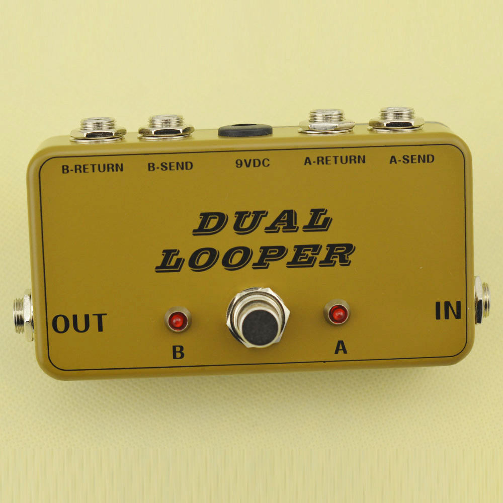 New True-Bypass Looper Effect Pedal Guitar Effect Pedal Looper Switcher  true bypass guitar pedal Army Green dual Loop switch mooer ensemble queen bass chorus effect pedal mini guitar effects true bypass with free connector and footswitch topper