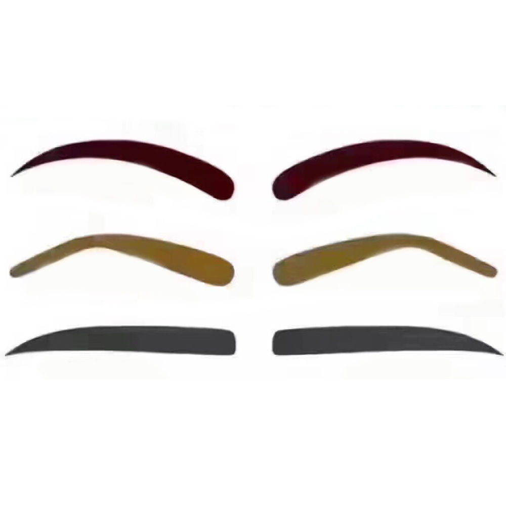 Fashion Eyebrow Template Stamp Svamp Stencils Eye Makeup 3 Natural - Smink - Foto 4