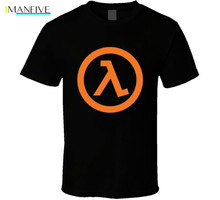 Half Life 2 - Lambda Video Game T Shirt Newest Top Tees,Fashion Style Men Tee,Cotton Classic tee tops wholesale tee цена