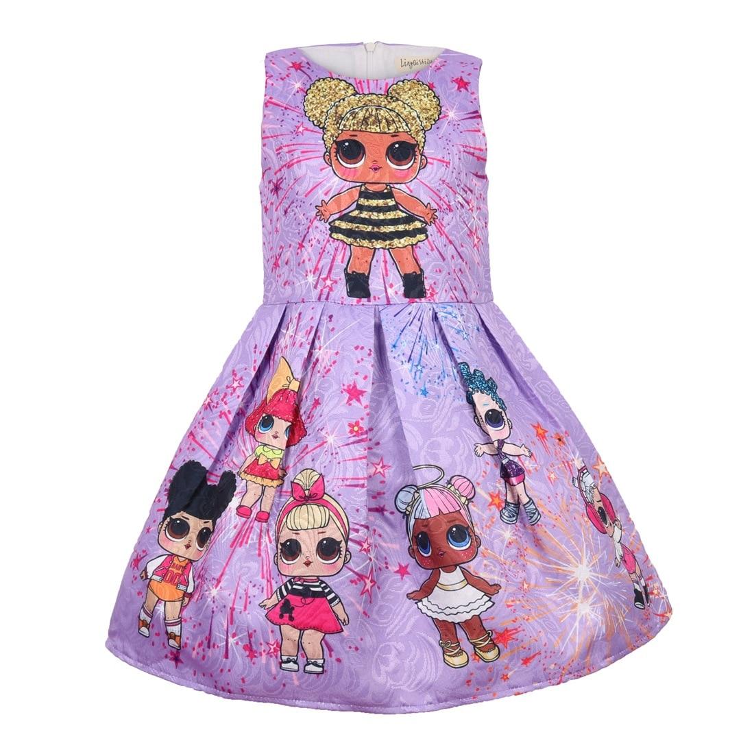 Lol Dolls Baby Dresses 3-9Y Summer Cute Elegant Dress Kids Party Christmas Costumes Children Clothes Princess Lol Girls Dress fashion christmas dress girls party accessories children s halloween costumes for girls party dress kids cute birthday dresses