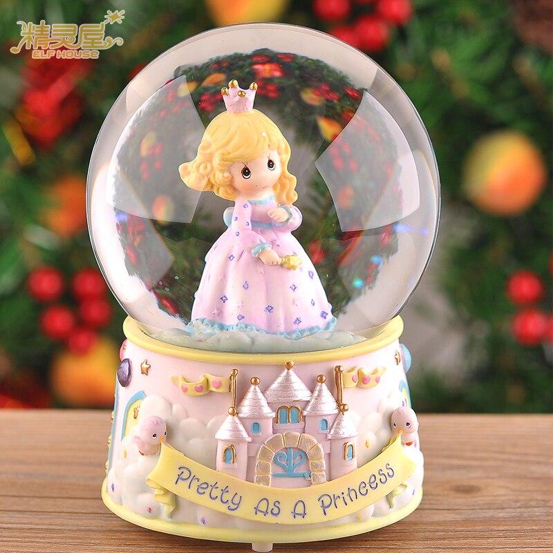 Princesse d'anniversaire idées cadeaux petite amie filles boule de cristal boîte à musique de la musique à envoyer leurs filles enfants enfants