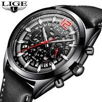 Для мужчин s часы lige Top самых лучших брендов класса люкс Для мужчин часы мужские военные спортивные часы Для Мужчин's Водонепроницаемый кварц