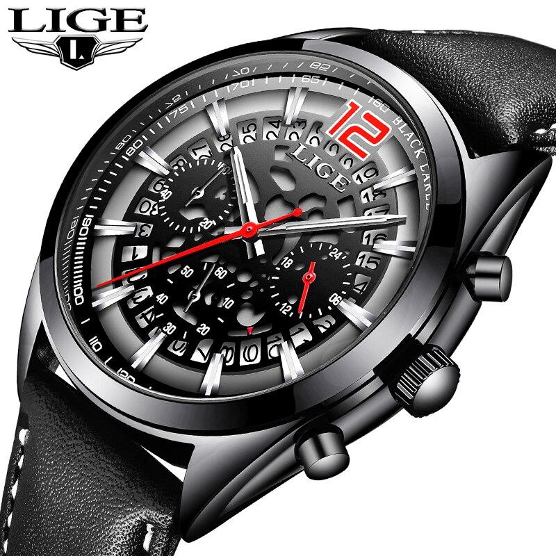 Hommes Montres Militaire de LIGE Top Marques De Luxe Hommes Sport Montres Hommes de Quartz Étanche Montres Calendrier Date Horloge Relogio + boîte