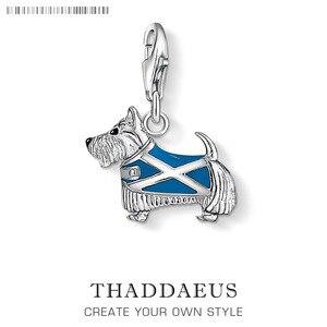 Чистое Стерлинговое Серебро 925 пробы Westie Westy Dog Scotland Animal Charms fit оригинальные браслеты ожерелье ювелирные изделия для женщин и мужчин подарок