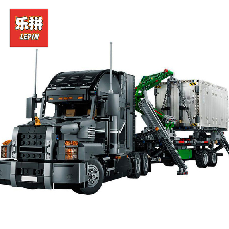 In Stock Lepin Sets 20076 2907Pcs Technic Figures Mack Big Truck Anthem Model Building Kit Blocks Bricks Educational Toys 42078 lepin 20076 genuine 2907pcs technic