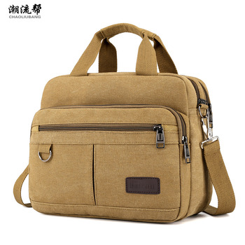 Men's Bag Casual Canvas Shoulder Bag Large Capacity Multi-pocket Handbag Messenger Bag Ladies Bolsa Feminina Sac Crossbody Bags 2017 fashion cartoon handbag tote shoulder stripe casual women ladies canvas bag simple cute mini girl bags bolsa feminina
