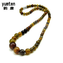 Natural Crystal Dragon Agate Tower Chain Collar Colar Feminino Superstar Turquoise Rough Collier Sautoir Necklace Women 2017 New