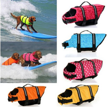 Dog Life Jacket Pet Saver Vest Swimming Preserver Puppy Swimwear Surfing Reflective Stripes XS-XL
