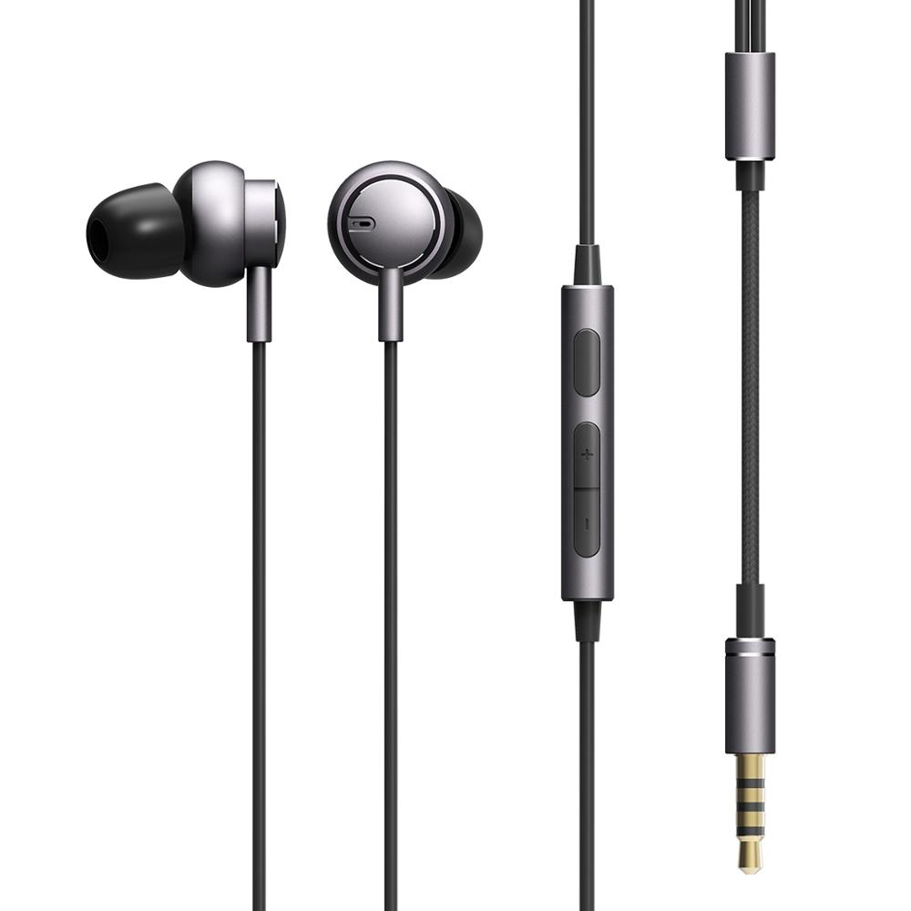 ROCKSPACE Mubow Stereo Earphone With Mic In-Ear Headset For Sony Xiaomi 3.5mm Aux Noise Cancelling Metal Microphone Stereo Sound xiaomi miui 3 5mm stereo in ear earphone w microphone blue