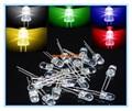 5valuesx20pcs = 100 pcs UltraBright Vermelho/Verde/Azul/Branco/Amarelo Ultra Brilhante 5mm LED Rodada F5 Levou diodo