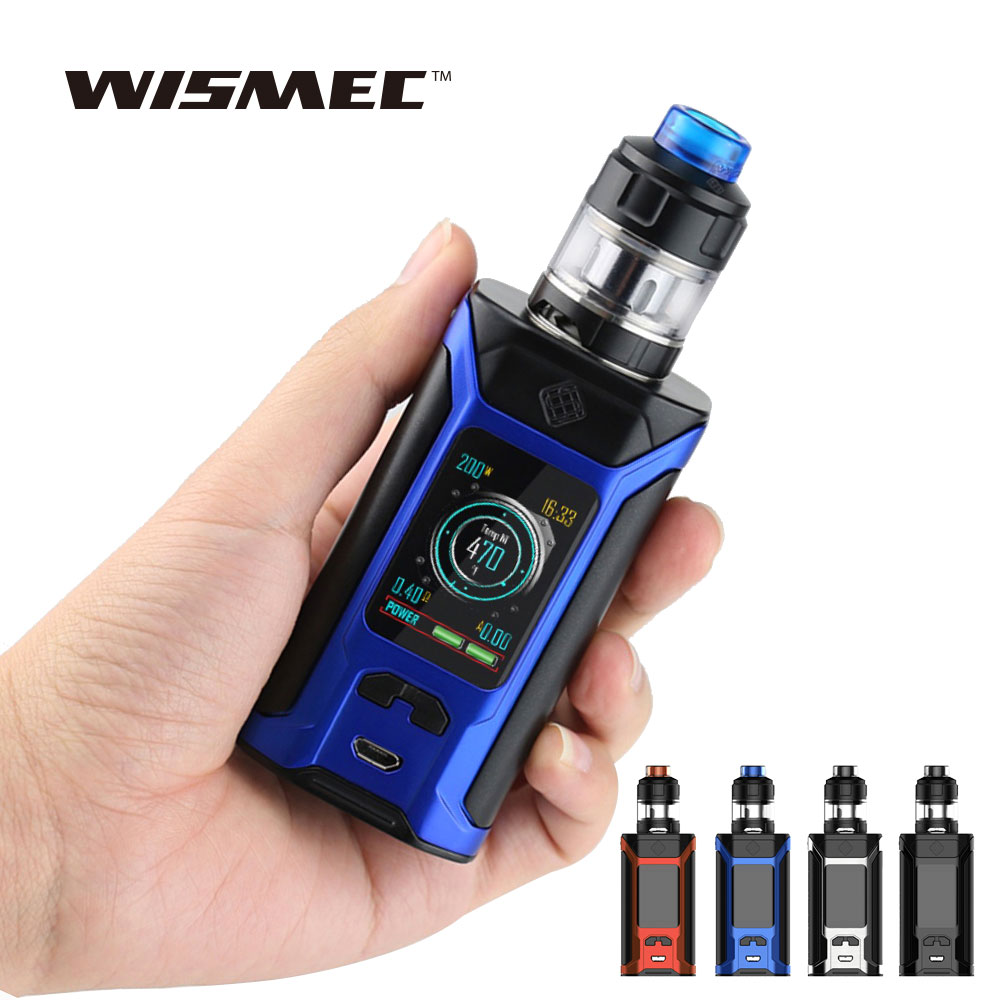 E-cigarette 200W WISMEC SINUOUS RAVAGE230 TC Kit with 2ml/4ml GNOME Evo Tank No 18650 Battery Vape Kit Vs RX GEN3 / Alien 220w