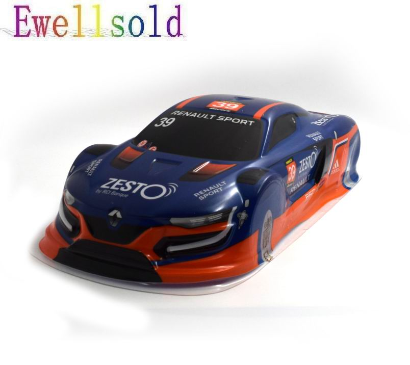 Ewellsold 1/10 RC racing on-road drift car painted PVC Body Shell (440*190mm,wheelbase 260mm) blue 2pcs/lot 1 10 rc car 190mm on road drift rally subaru body shell blue