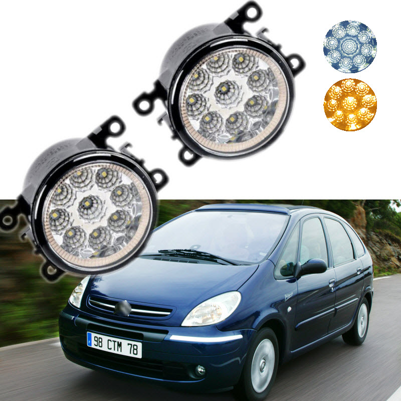 Car-styling For Citroen Xsara Picasso 2004-2011 9-Pieces Leds Chips LED Fog Light Lamp H11 H8 12V 55W Halogen Fog Lights